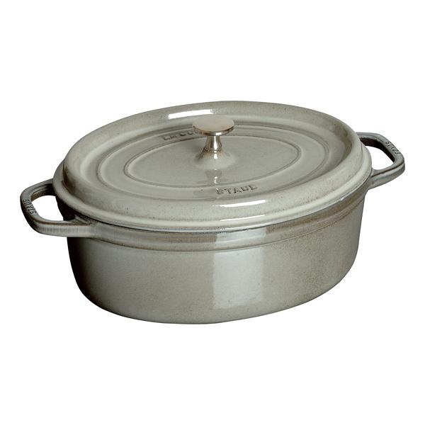 ストウブ ピコ・ココット 楕円 グレー40500-276 【厨房館】
