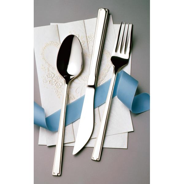 新作続 新色追加して再販 kisi-12-0695-0103 18-10 ロマンス No.11600 ミラー仕上 鋸刃 デザートナイフ 厨房館 H.H