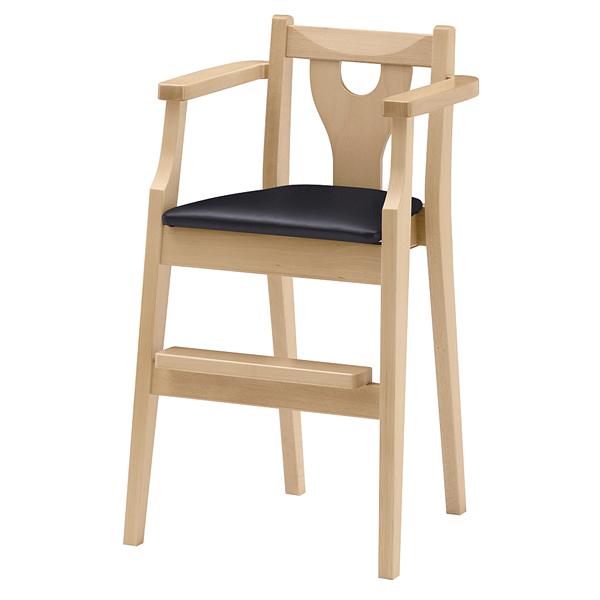 ジュニア椅子 イルカN ナチュラルクリア 1044-1764(シート:黒) 【厨房館】
