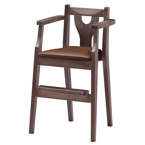 ジュニア椅子 イルカD ダークブラウン 1144-1764(シート:黒) 【厨房館】