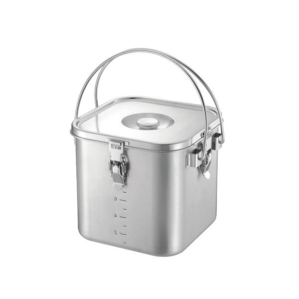 KO19-0 角型 給食缶 22cm 【厨房館】