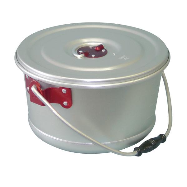 アルマイト色別食缶 しゅう酸ゴールド 6l(赤) 【厨房館】