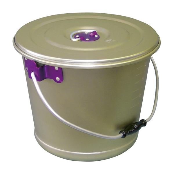 アルマイト色別食缶 硫酸シルバー 12l(紫) 【厨房館】