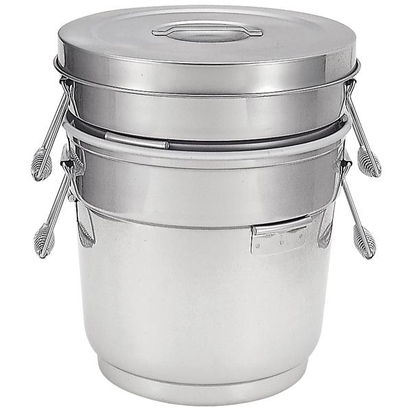 段付二重ステンレス食缶 中蓋式 ASD-16 【厨房館】