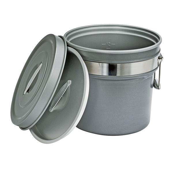 段付二重食缶(内外超硬質ハードコート アルマイト仕上) 249-H 【厨房館】