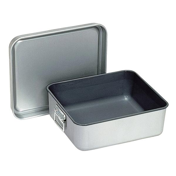アルマイト 保温・冷バットコンテナー(蓋付) 001 【厨房館】
