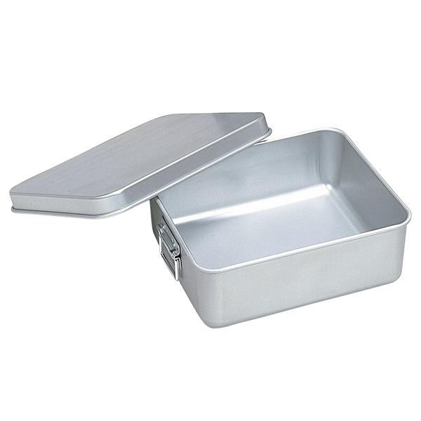 アルマイト 保温・冷バットコンテナー(蓋付)002(内面スミフロン加工) 【厨房館】