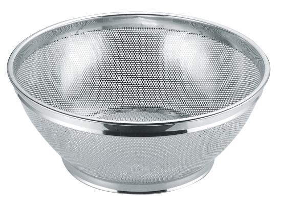 UK18-8 パンチング浅型ザル (穴径φ2.2mm) [内]37.5cm 【厨房館】
