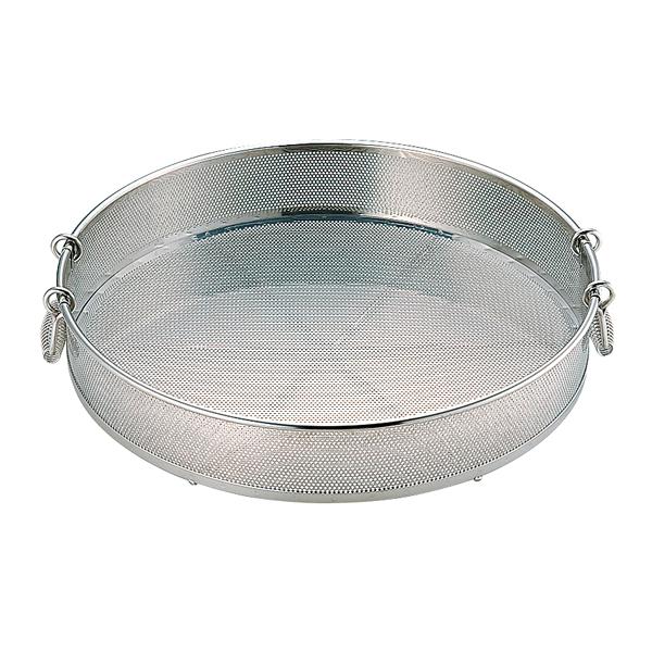 UK18-8 パンチング 蒸しザル(手付)(穴径φ2.2mm) 50cm 【厨房館】