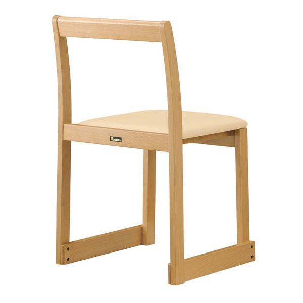 【 業務用 】右近N椅子 | 張地:Aランクレザー UP2515 サンゲツ 【メーカー直送品&代金引換決済不可商品】