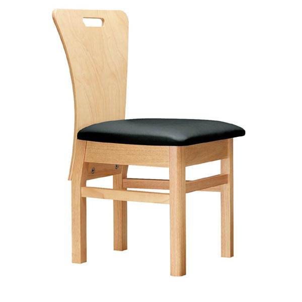 【 業務用 】昼顔N椅子 黒レザー | 張地:オールマイティー 6416 シンコール 【メーカー直送品&代金引換決済不可商品】