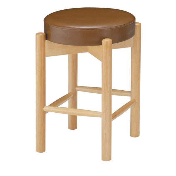 【 業務用 】三笠N椅子 茶レザー | 張地:ニュートップ 6360 シンコール 【 メーカー直送/後払い決済不可 】