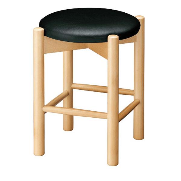 【 業務用 】若草N椅子 ブラックレザー   張地:オールマイティー 6416 シンコール 【 メーカー直送/後払い決済不可 】