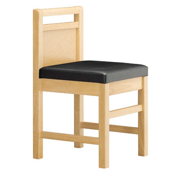 【 業務用 】富士N椅子 黒レザー | 張地:クレンズII 6291 シンコール 【 メーカー直送/後払い決済不可 】