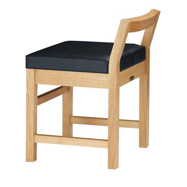 【 業務用 】隼人N椅子 黒レザー | 張地:オールマイティー 6416 シンコール 【 メーカー直送/後払い決済不可 】