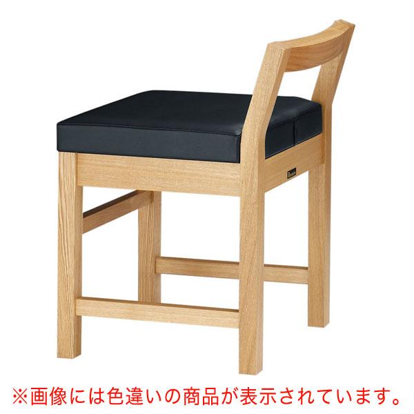 【 業務用 】隼人N椅子 茶レザー | 張地:オールマイティー 6439 シンコール 【 メーカー直送/後払い決済不可 】