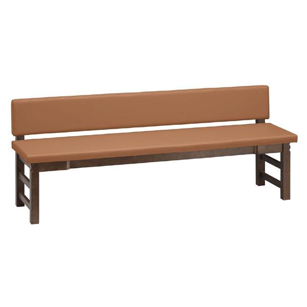 【 業務用 】出石D長椅子 背付 間口/1800mm | 張地:Aランクレザー ゼラコート 6688 シンコール 【メーカー直送品&代金引換決済不可商品】