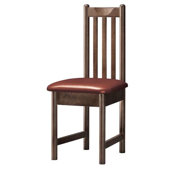 【 業務用 】男鹿D椅子 茶レザー | 張地:ニュートップ 6369 シンコール 【メーカー直送品&代金引換決済不可商品】