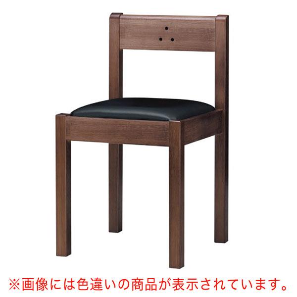 【 業務用 】不動D椅子 茶レザー | 張地:クレンズII 6297 シンコール 【 メーカー直送/後払い決済不可 】