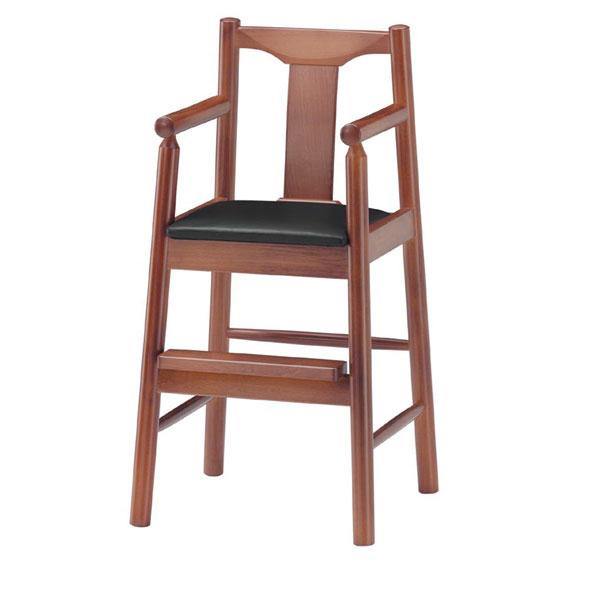 【 業務用 】パンダK椅子 黒レザー | 張地:ニュートップ 6390 シンコール 【 メーカー直送/後払い決済不可 】