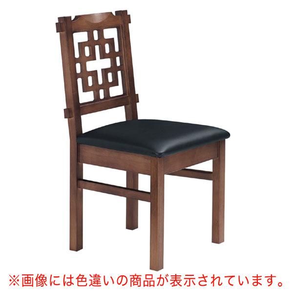 【 業務用 】海南D椅子 茶レザー | 張地:オールマイティー 6439 シンコール 【メーカー直送品&代金引換決済不可商品】