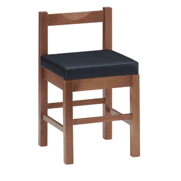 【 業務用 】八宝D椅子 黒レザー | 張地:クレンズII 6291 シンコール 【 メーカー直送/後払い決済不可 】