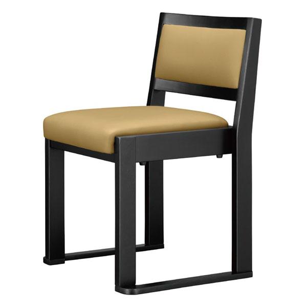 【 業務用 】根来B椅子 | 張地:Aランクレザー ゼラコート 6687 シンコール 【 メーカー直送/後払い決済不可 】