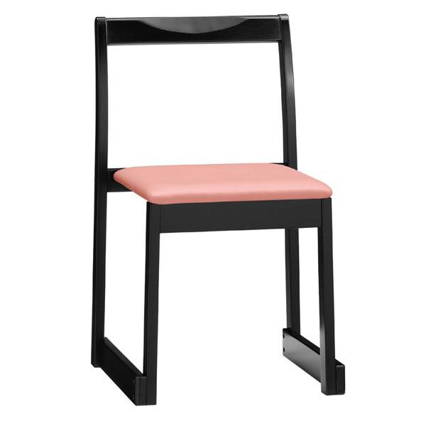 【 業務用 】右近B椅子 | 張地:Aランクレザー ゼラコート 6690 シンコール 【メーカー直送品&代金引換決済不可商品】