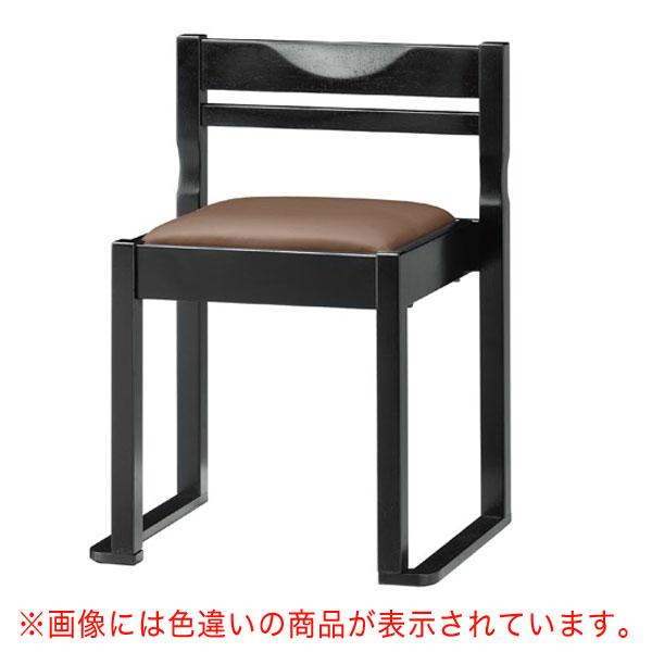 【 業務用 】有田B椅子 黒レザー   張地:クレンズII 6291 シンコール 【 メーカー直送/後払い決済不可 】
