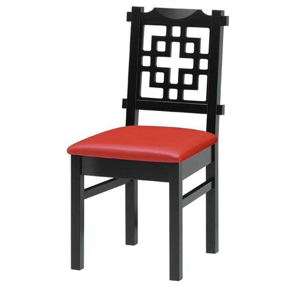 【 業務用 】海南B椅子 赤レザー | 張地:オールマイティー 6467 シンコール 【メーカー直送品&代金引換決済不可商品】