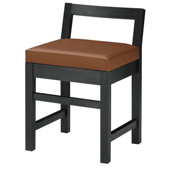 【 業務用 】隼人B椅子 茶レザー | 張地:オールマイティー 6439 シンコール 【 メーカー直送/後払い決済不可 】