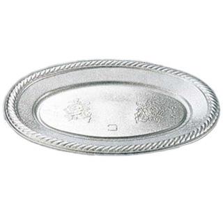 【まとめ買い10個セット品】プラ 使い捨て小判皿 K-6(50枚入) 【厨房館】