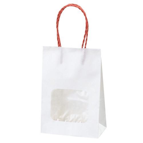 【まとめ買い10個セット品】 ウインドウミニバッグ 赤 100枚【店舗備品 包装紙 ラッピング 袋 ディスプレー店舗】【厨房館】
