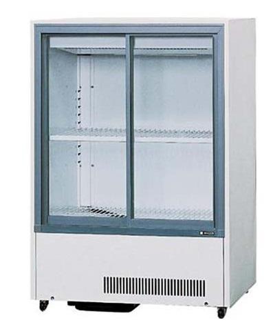 サンデン 業務用 冷蔵ショーケース キュービック薄型 スライド扉タイプ 200L MU-120XE (旧型式:MU-120X) 幅750×奥行565×高さ1085mm