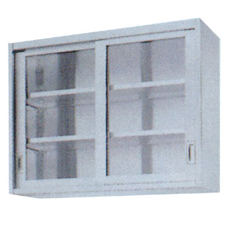 【 業務用 】業務用ガラス戸吊戸棚 GHL型 GHL-1830 1800×300×900 【 メーカー直送/代引不可 】