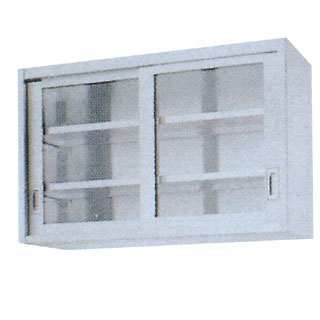 【 業務用 】業務用ガラス戸吊戸棚 GHY型 GHY-9035 900×350×750 【 メーカー直送/代引不可 】
