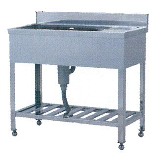 【 業務用 】ステンレス シンク 一槽水切付シンク ST型 ST-1245 1200×450×800 【 メーカー直送/代引不可 】