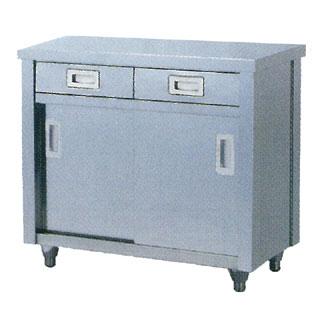 【 業務用 】調理台 業務用ステンレス製片面引出引違戸式調理台 TOD型 TOD-1590 1500×900×800【 メーカー直送/代引不可 】