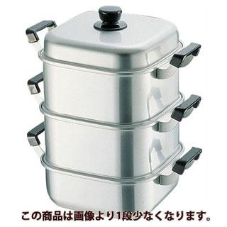 【まとめ買い10個セット品】 【 業務用 】アルマイト角型蒸器 26cm 一重 【 せいろ セイロ 蒸篭 蒸し器 アルミ 】