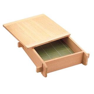 【まとめ買い10個セット品】【 業務用 】木製 角セイロ[蒸篭] 関東型[サワラ材] 33cm【 セイロ木製せいろ 】