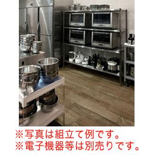 【 業務用 】【 KWシェルフフラット430+ステンポスト 35×150×H150cm×4段 】 【 メーカー直送/代金引換決済不可 】