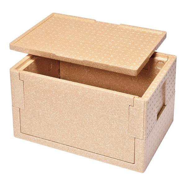 デリバリー用折りたたみ式コンテナー RHX-37型(コルク色) 【厨房館】