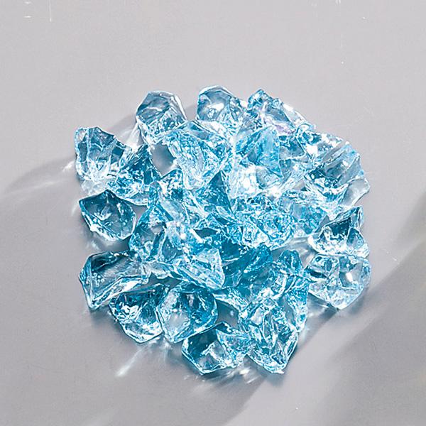 【まとめ買い10個セット品】アクリル ロックアイス(1kg入) ブルー 【厨房館】