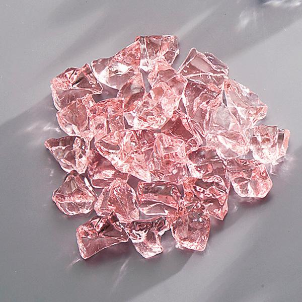【まとめ買い10個セット品】アクリル ロックアイス(1kg入) ピンク 【厨房館】