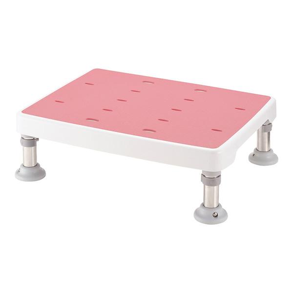 浴そう台 高さ調節付 すべり止め ピンク L型 【厨房館】