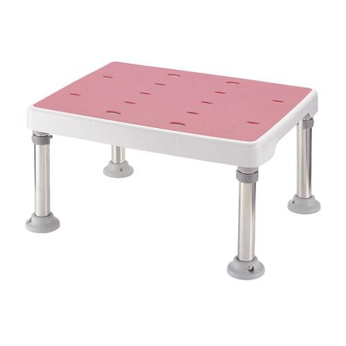 浴そう台 高さ調節付 すべり止め ピンク H型 【厨房館】