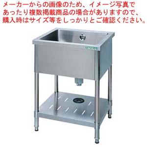 18-0一槽シンク (バックガード無) TX-1S-60NB 【厨房館】