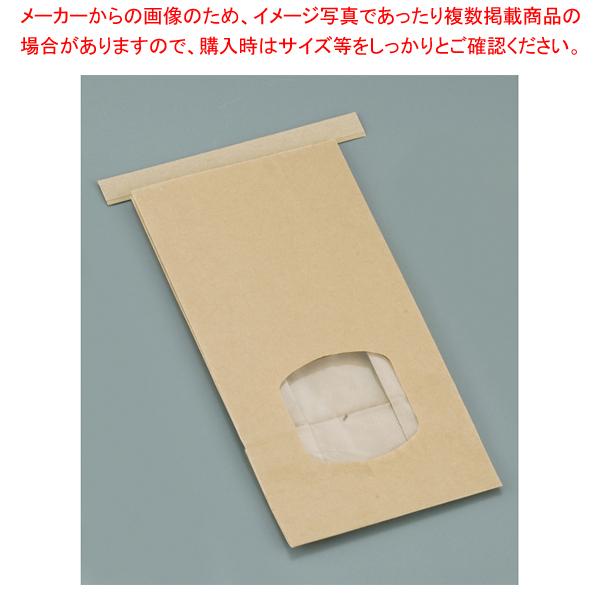 クラフト窓付きティンタイ袋(ワイヤー付) M(400枚入) 【厨房館】