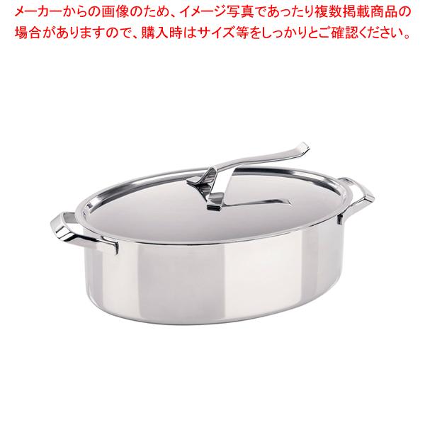 ABR1701 7-0055-1501 6-0051-1501 贈呈 人気 おすすめ 業務用 通販 蓋付 大好評です 厨房館 18-10マイポットオーバルキャセロール 販売