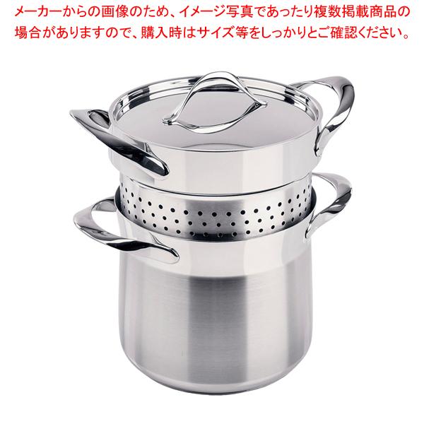 18-10マイレディ パスタポット (蓋付) 20cm 【厨房館】